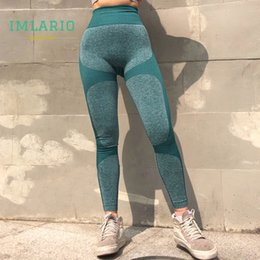 $enCountryForm.capitalKeyWord Australia - Color Block Athletic Pants Energy Seamless Yoga Leggings Women High Waist Flex Fitness Workout Tights Push Up Hip Sport Trousers