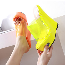 $enCountryForm.capitalKeyWord Australia - Plus size 35 to 40 41 42 candy colorful transparent clear heels women platform wedges heels sandals luxury women designer shoes