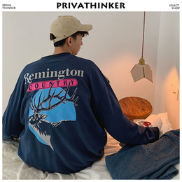 $enCountryForm.capitalKeyWord NZ - Funnt Print Hoodies Men Clothing 2019 Man Japanese Streetwear Sweatshirts Male Loose Korean Fashion Pullover Hoodie