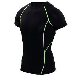 China Running Shirt Crossfit Fitness Jersey Compression Tights Quick Dry MMA Rashguard Men Breathable Mens Sportswear Tops Clothing cheap running compression clothing suppliers