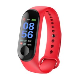 China Top M3 Smart Watch Bracelet Fitness Tracker with Heart Rate Bluetooth Watches MI 3 Wearable Technology XIAOMI APPLE Watch with Retail Box suppliers