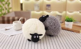 christmas pillows Australia - Cute Adorable White And Gray Sheep Plush Stuffed Toy Doll Fleece Pillow Cute Doll Christmas Gifts For Girls