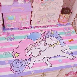 $enCountryForm.capitalKeyWord Australia - Cartoon Soft PU Rectangular Tablecloth Waterproof Little Twin Starts Cinnamoroll My Melody Table Mat Kids Birthday Party Decor