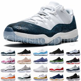 basketball shoes light up Canada - 11 Mens 11s Basketball Shoes Blue Pink Snakeskin Light Bone High Concord 45 Space Jam Gym Red XI Designer Sneakers Men Sport Shoes