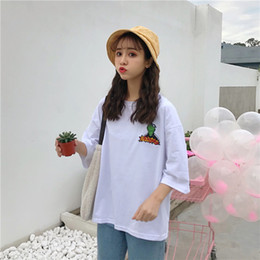 f49393d93d3 Harajuku Cartoon Graphic Loose T Shirt Tops Women Summer Korean Ulzzang  Lolita Loose Style Tees Shirt Schoolgirl Streetwear