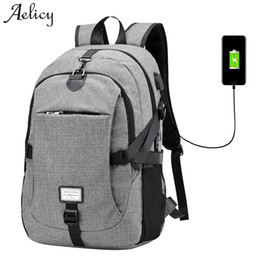$enCountryForm.capitalKeyWord Australia - Aelicy Luxury Oxford Backpack Male New Design Anti-theft Backpack With Usb Charging Waterproof Travel Backpack Multifunctional Y19061102