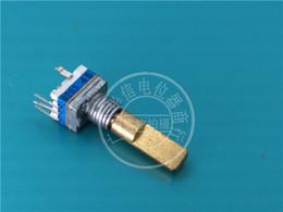 Potentiometer Switch UK - Tocos 7 Type Single Lian Bring Press Switch Bring Stepping Potentiometer B20k