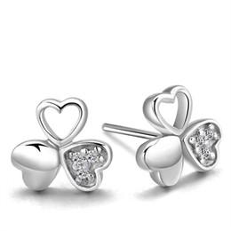 Wholesale Plates For Sale Australia - Hot Sale High Quality 925 Silver Earrings Plated Flower Heart Stud Earrings For Women Party Wedding Jewelry Fashion Earrings