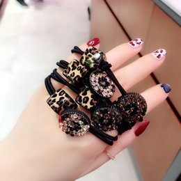 $enCountryForm.capitalKeyWord Australia - 20190823 Leopard-print square hair rope fashionable hair ring leather sheath pill leather band
