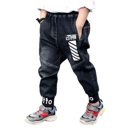 $enCountryForm.capitalKeyWord Australia - Retail 2019 New Autumn Children Cotton Boys Letter Jeans Kids Winter Thickened Stylish Trousers Pencil Pants Baby Clothing J190522