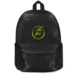 Chinese  Package,backpack Green Arrow and Flash logo black outdoor popularpackage daily sports Travel Beachbackpack manufacturers