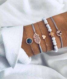 $enCountryForm.capitalKeyWord Australia - Fashionable Cool Mens Jewelry Sets 5PCS High Quality Handmade Silver Plated Metal Charm Bracelet for Sale