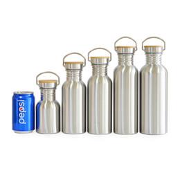 $enCountryForm.capitalKeyWord Australia - Bpa Free Stainless Steel Water Bottle Bamboo Lid Sports Flask Leak-proof Food Jar For Travel Yoga Cycling Hiking Camping T8190627