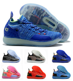 8bf0ffed4912 Hot Boys Kids Kevin Durant KD 11 11S Multi-Color KD11 XI Trainers Zoom  Youth Girls Women Basketball Shoes Elite Mid Sport Sneakers 36-40