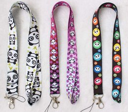 panda woman costume Australia - New arrived 200pcs cute panda mobile phone rope cord charm laces keychain pendants costume