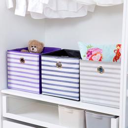 Cloth Cubes Australia - Foldable Fabric Storage Cube storage box sundries storage bin Collapsible Cloth Organizer Baskets Folding Nursery Closet