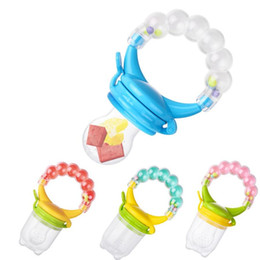 vegetable toy baby UK - Soft Newborn Pacifier Baby Feeding Pacifier Fruit Vegetable Feeder Child Trainning Fresh Food Feeding Tool Kids Bell Toy