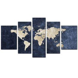 $enCountryForm.capitalKeyWord UK - Abstract World Map Picture Printed Canvas Giclee Artwork Stretched and Framed Wall Art For Living Room