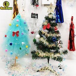 $enCountryForm.capitalKeyWord UK - 25cm Mini Christmas Tree Xmas Wedding Party Table Centerpiece Valentine Gift Tulle Tutu Tree DIY Wedding Birthday Party Supplies