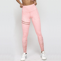 black print leggings Australia - New Hotsale Women Pink Rosed Gold Print Leggings High Waist Women Sportwear Clothes Black Fitness Leggins