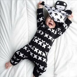 hoodie jumpsuits rompers Australia - Infant Baby autumn boys Newborn dot black letter wear Boy long sleeve jumpsuit jacket hoodies tracksuit toddler boy winter rompers coats