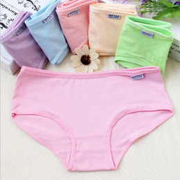 c600d4223b80 600Pcs Sexy Ladies Panties Briefs Multi Colors Solid Cotton Mid Waist Cute Women  Underwear Lingerie Intimates Free Shipping