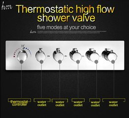 Shower flow valve online shopping - Bathroom Accessories Function Brass Chrome Conceal Wall Mounted Thermostatic Shower Valve High Flow L Water Faucet