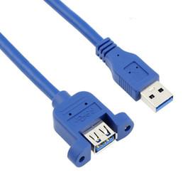 $enCountryForm.capitalKeyWord UK - High quality 0.6m USB3.0 B Female to USB 3.0 B Male panel mount Extension Sync Cable Cord 100pcs lot