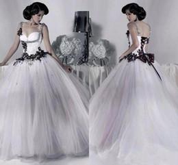 Gothic Black White Corset Wedding Dress Australia New Featured