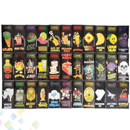 Cigarette paCkage box online shopping - 3D Dank Vapes Cartridge New Black Box Side Window Front Window Package Flavors vape cartridges tank Bag e cigarette Packages