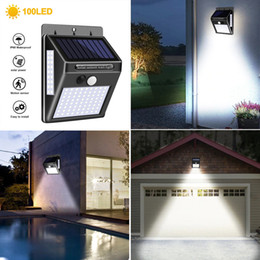 solar patio street light UK - Waterproof LED Solar Wall Lamp Motion Sensor Wall Light Energy Saving Night Lights for Outdoor Garden Landscape Street Yard Path Fence Patio