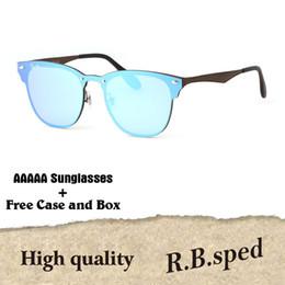 HigH quality aluminum online shopping - 1pcs Brand designer sunglasses men women High quality Metal Frame uv400 lenses fashion glasses eyewear with free cases and box
