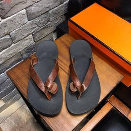 $enCountryForm.capitalKeyWord Australia - High quality Fashion casual trend men slippers With flip-flops Summer beach leather Comfortable Non-slip rubber sole Male flats lazy slipper