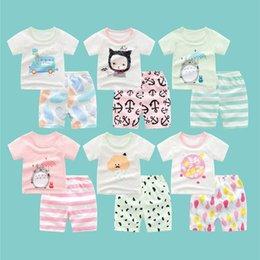 $enCountryForm.capitalKeyWord Australia - Summer 2019 100%Cotton Short-Sleeve Kids T-Shirts+Shorts Set Kawaii Cat Bus Printed T-Shirt For Girls Boys Gift For