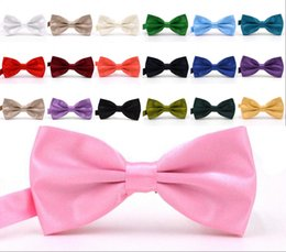 Bowties For Women Australia - 2019 Solid Colors Bow Ties For Weddings Fashion Man And Women Neckties Mens Bow Ties Leisure Neckwear Bowties Adult Wedding Bow Tie