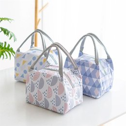 $enCountryForm.capitalKeyWord Australia - Insulated Picnic Lunch Bag Bento Thermal Travel Food Storage Portable Oxford Cloth Outdoor Picnic Food Lunch Tote Hand Bags Bag