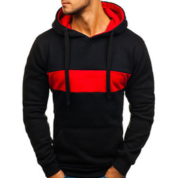 hoodie fit Canada - 2018 New Style Fashion Hot Men's Winter With Hat Hoodies Slim Fit Outwear With Pocket Warm Winter Patchwork