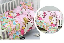 Cheap quality bedding online shopping - Promotion Cartoon Newborn Cot Bedding Set for girls cheap baby bedding crib sets Duvet Cover Sheet Pillowcase