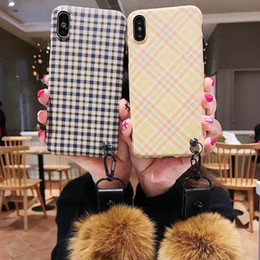 Fox Fur Iphone Case Australia - Literary Style CellPhone Case for iphone 6 7 8 plus XS Max Mobile phone Cover with Fox Fur Wrist strap
