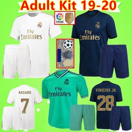 blue real madrid s soccer jersey NZ - Adult Kit HAZARD 2019 2020 New Real madrid soccer jersey 19 20 camisa VINICIUS Mens sets football shirt ZIDANE suit Camiseta ISCO Maillot
