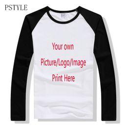 Long Sleeve Modal Tees Australia - wholesale Raglan tshirt Long Sleeve T Shirts Men Custom T-shirt Own Design Logo Printing Shirts Man Casual Tee Tops Autumn