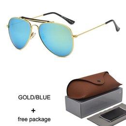 $enCountryForm.capitalKeyWord NZ - High Quality Pilot vintage designer sunglasses glass lens mirror UV400 protection for women and mens cool fashion mirror sun glasses