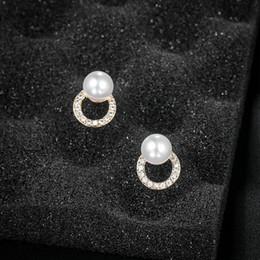 $enCountryForm.capitalKeyWord Australia - baiduqiandu 925 Pins Boucle d'oreille Circle Round Geometric Metal Pearl Earrings For Women Girl Gifts Crystal Stud Earring