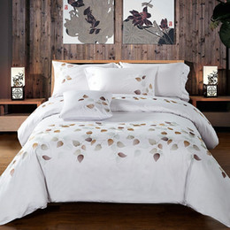 $enCountryForm.capitalKeyWord Australia - 100% Egypt Cotton Duvet Cover Set King Queen Size 4pcs White Embroidered Bedding Sets Luxury Bedclothes Bed Sheet Linen Pillowcase