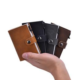 $enCountryForm.capitalKeyWord UK - designer card holder Antitheft Credit Card Holder Blocking Rfid Wallet Pu Leather Unisex Security Information Aluminum Metal Purse