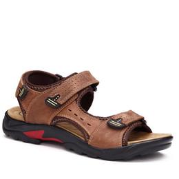 c4cfe09af76 mens sandale de plage véritable cuir de vachette été hommes sandales  nouvelle mode respirant chaussures hommes plus la taille 39-48