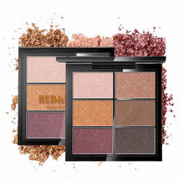 Black Diamond Powder Australia - Red&Black Glitter Eyeshadow Makeup Pallete Matte Eye shadow Palette Shimmer Shine Diamond Eyeshadow Powder Pigment Cosmetics