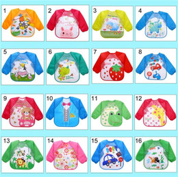 $enCountryForm.capitalKeyWord Australia - New Baby Toddler Cartoon Overalls Waterproof Long Sleeve Bibs Children Kids Feeding Smock Apron Eating Clothes Burp Cloths