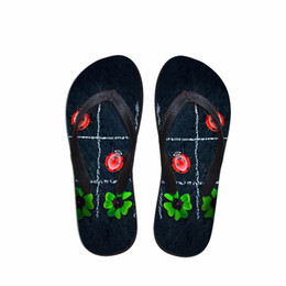 $enCountryForm.capitalKeyWord Australia - Customized Flip Flops Women Summer Printed Flats Flipflops for Women 3D Leaf Beach Sandals Woman Ladies Water Shoes