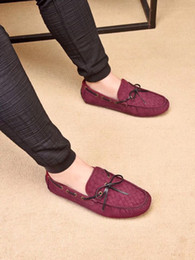 $enCountryForm.capitalKeyWord NZ - 2019 spring summer Woven Designer Luxury Fashion Orange suede real leather Classic bow soft Loafers flat soles Moccasins breathable Shoes